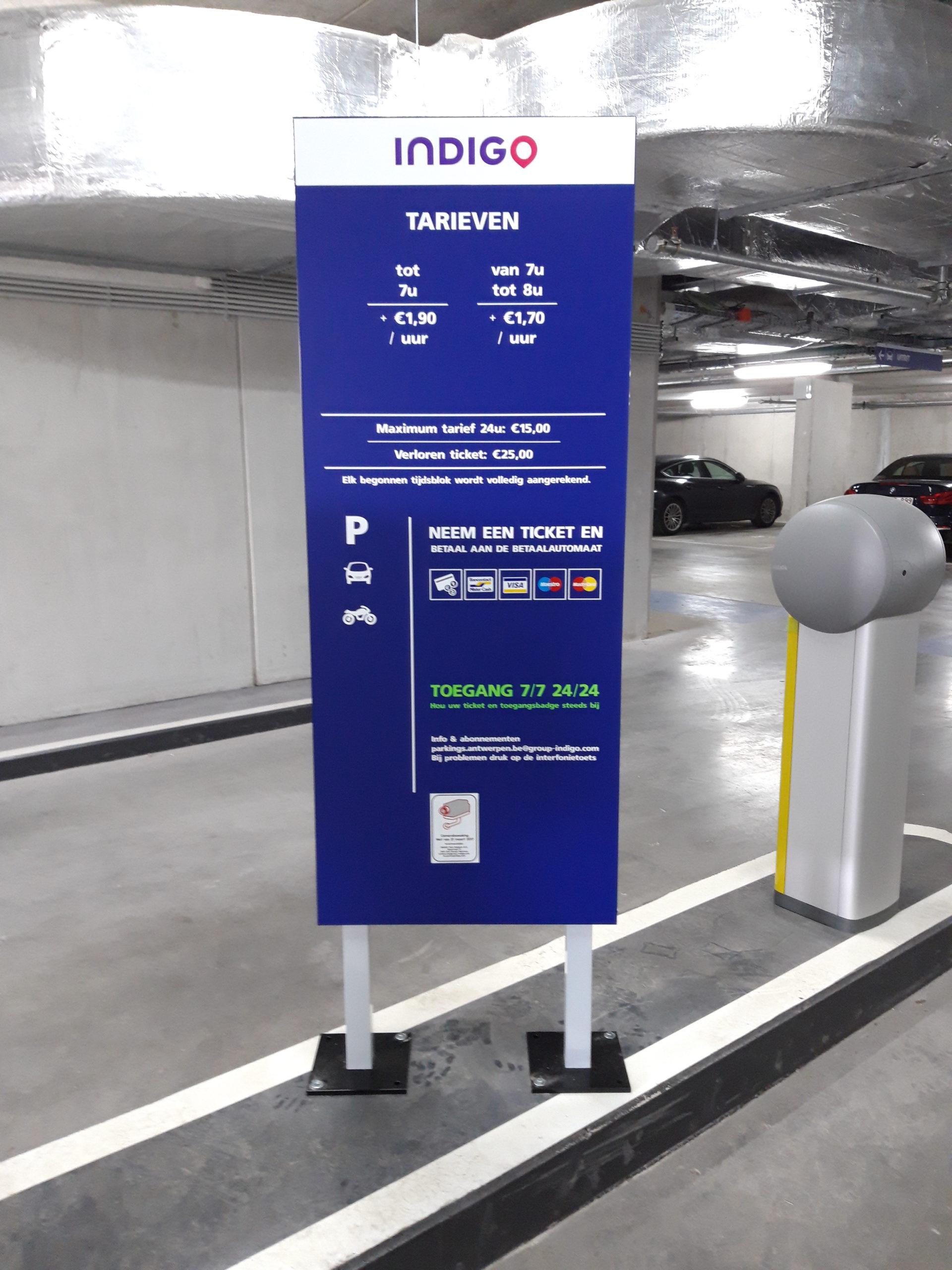 Indigo parking Turnova Turnhout